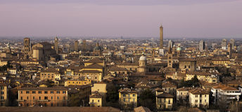 Het panorama van Bologna Stock Fotografie