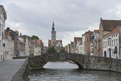 Het Panorama van Brugge stock foto