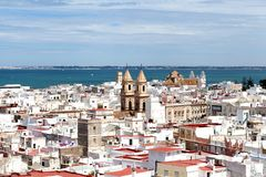 Het panorama van Cadiz royalty-vrije stock foto