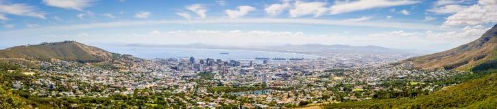 Het Panorama van Cape Town, Zuid-Afrika Stock Afbeelding