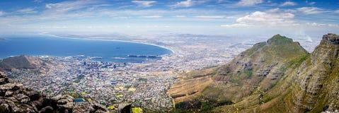 Het Panorama van Cape Town, Zuid-Afrika royalty-vrije stock afbeelding