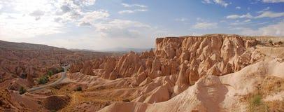 Het panorama van Cappadocia, Turkije Royalty-vrije Stock Afbeeldingen