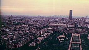 Het panorama van Champ de Marsjaren '70 stock footage