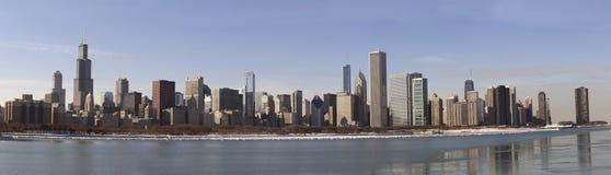 Het Panorama van Chicago Stock Foto's