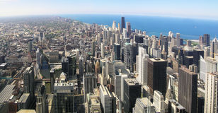 Het Panorama van Chicago stock foto