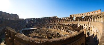 Het panorama van Coliseum stock foto