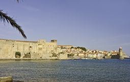 Het Panorama van Collioure royalty-vrije stock afbeelding