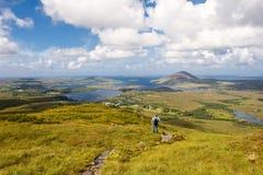 Het panorama van Connemara Stock Afbeeldingen