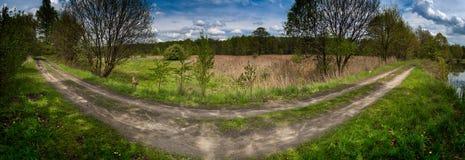 Het panorama van Coutryside Stock Afbeeldingen