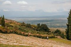 Het panorama van de Alazanivallei stock afbeeldingen