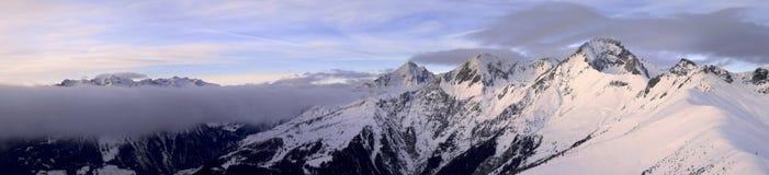 Het panorama van de Alpen van Asutrian Stock Afbeelding