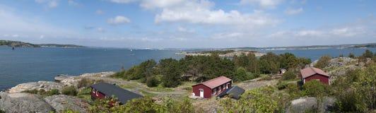 Het panorama van de archipel stock fotografie