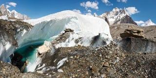 Het Panorama van de Baltorogletsjer, Pakistan royalty-vrije stock afbeeldingen