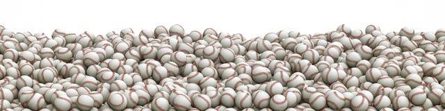 Het panorama van de Baseballsstapel vector illustratie