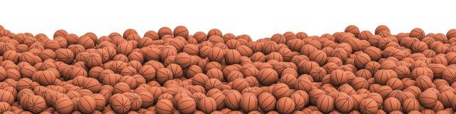 Het panorama van de basketbalstapel vector illustratie