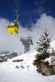 Het panorama van de berg, de winterscène Royalty-vrije Stock Foto