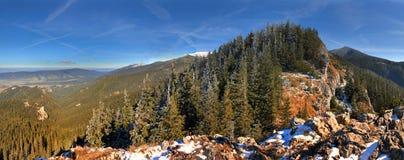 Het panorama van de berg - tatras van het Westen stock afbeeldingen
