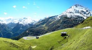 Het Panorama van de Bergen van alpen Royalty-vrije Stock Foto's