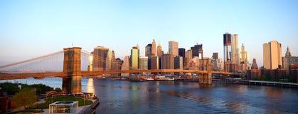Het panorama van de Brug van Brooklyn royalty-vrije stock foto