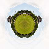 Het panorama van de cirkel van Chinese tempel. Royalty-vrije Stock Foto's