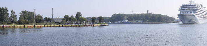 Het panorama van de cruisevoering Stock Foto's