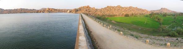 Het Panorama van de dam Royalty-vrije Stock Foto's