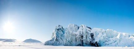 Het Panorama van de gletsjer Royalty-vrije Stock Afbeeldingen