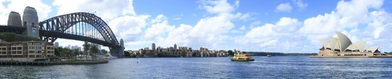 Het panorama van de Haven van Sydney Stock Afbeeldingen