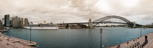 Het panorama van de Haven van Sydney Stock Foto's