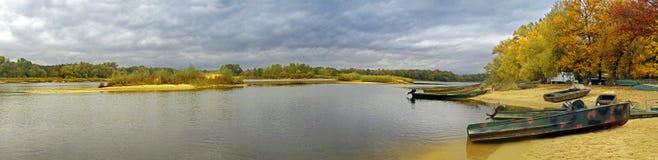 Het panorama van de herfst Stock Fotografie
