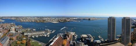 Het Panorama van de Horizon van de Haven van Boston Royalty-vrije Stock Afbeeldingen