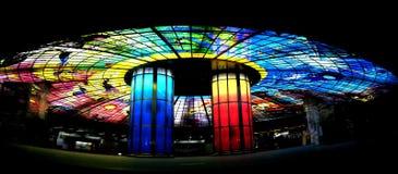Het Panorama van de Kunst van het glas Stock Foto