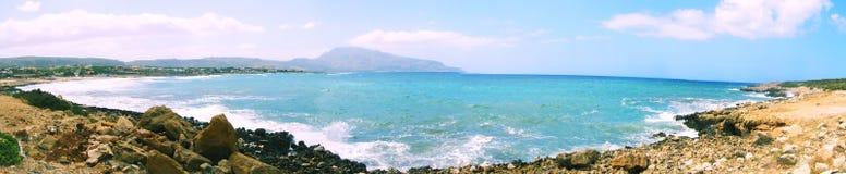 Het panorama van de kust stock foto