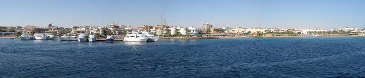 Het panorama van de kustlijn Stock Foto's