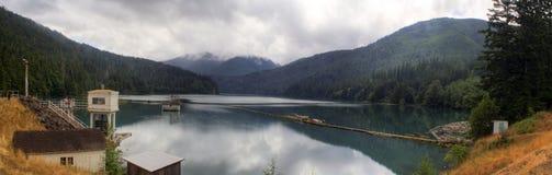 Het Panorama van de Molens van het meer stock afbeelding