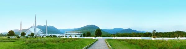 Het Panorama van de moskee Stock Foto's