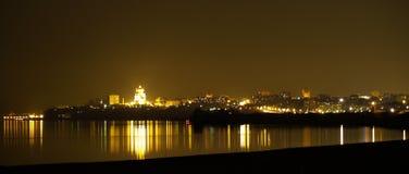 Het panorama van de nacht Stock Fotografie