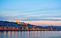 Het panorama van de nacht van Buda Royalty-vrije Stock Afbeeldingen