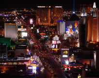 Het Panorama van de Nacht van Vegas van Las Stock Afbeeldingen