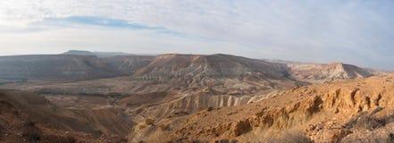 Het panorama van de Negevwoestijn Royalty-vrije Stock Foto