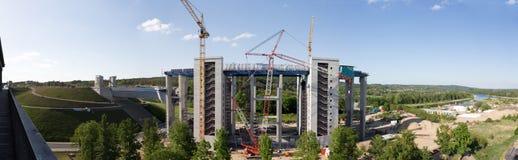 Het Panorama van de Niederfinowbouwwerf Stock Afbeeldingen