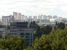 het panorama van de Oekraïne van nieuwe gebouwen in Kiev Stock Fotografie