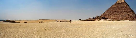 Het panorama van de piramide stock afbeelding