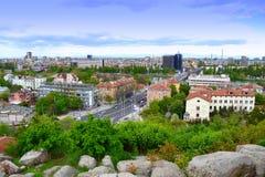 Het panorama van de Plovdivstad royalty-vrije stock fotografie