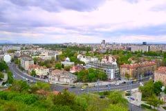 Het panorama van de Plovdivstad stock afbeelding