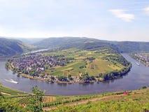 Het Panorama van de Rivier van Moezel royalty-vrije stock foto