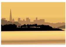 Het panorama van de stad vector illustratie