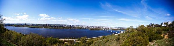Het panorama van de stad Stock Afbeeldingen