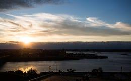 Het panorama van de stad Stock Foto's