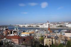 Het panorama van de stad van Boedapest Stock Foto